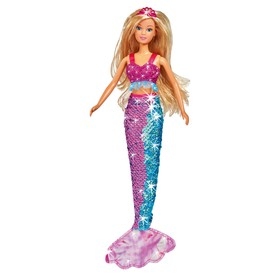 Кукла «Штеффи-русалка», хвостик с двусторонними пайетками, 29 см