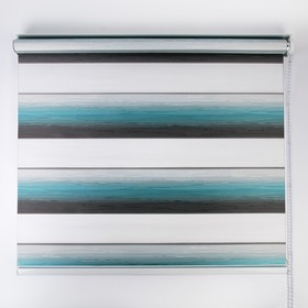 """The roller blinds """"Day-night"""" wave, 90×180 cm, color turquoise"""