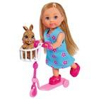 Кукла «Еви» 12 см, на самокате с кроликом