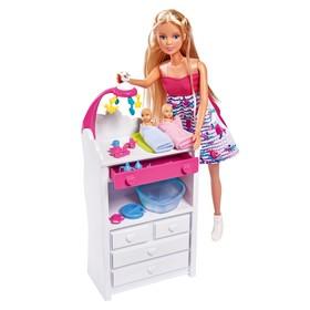 Набор: кукла «Штеффи-Мама», двойняшки с аксессуарами, 29 см