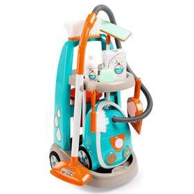 Детская тележка для уборки, пылесос, звуковые эффекты, 31×32×55 см