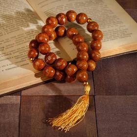 Чётки деревянные 30 бусин с кисточкой, цвет светло-коричневый