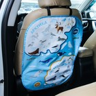 """The cover on the car seat """"Map of the Arctic and Antarctica"""""""