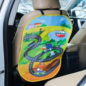 """Незапинайка на автомобильное кресло с наклейками """"Транспорт"""""""