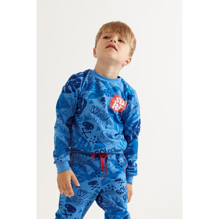 """Свитшот для мальчика KAFTAN """"Surf"""" р.30 (98-104 см), синий - фото 798488373"""