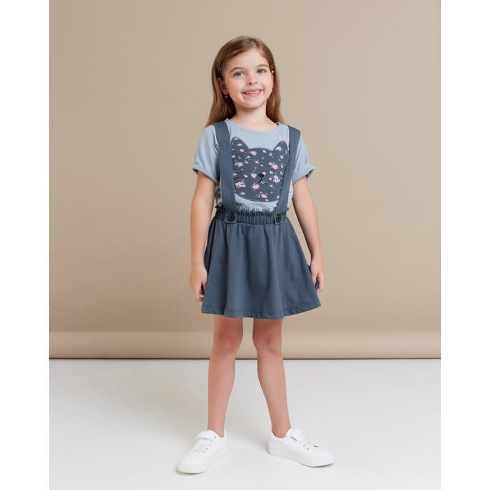 """Юбка для девочки KAFTAN """"Kitten"""" р.30 (98-104), т. серый - фото 105465561"""