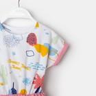 """Платье для девочки KAFTAN """"Safari"""" р.30 (98-104), розовый/белый - фото 105697192"""