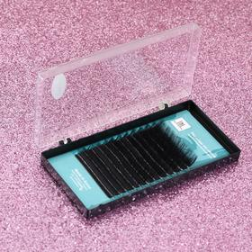 A set of eyelashes d / extension 12 row, for 7, 8, 9,10,11,12mm, thickness 0.10, bend C black plast box TNL