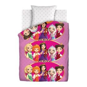 Детское постельное бельё 1,5 «Царевны», 143х215, 150х214, 70х70 см