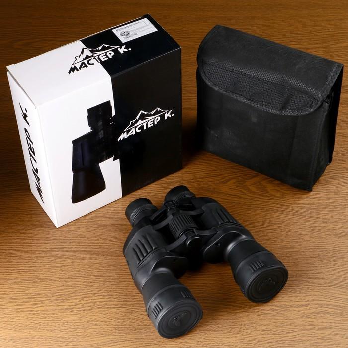 Бинокль 7х50, Мастер К. с патронами на накладках и тубусах, чёрный