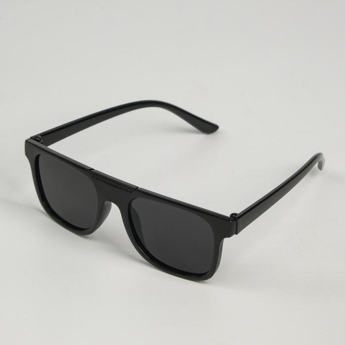 """Очки солнцезащитные детские """"Мастер К."""", uv 400, 13х12.4х3.9 см, линза 3.3х4 см, чёрные"""
