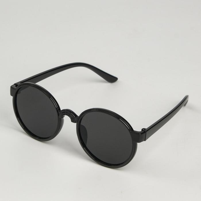"""Очки солнцезащитные детские """"Мастер К."""", uv 400, 13х12.5х4.6 см, линза 4.1х4.2 см, чёрные"""
