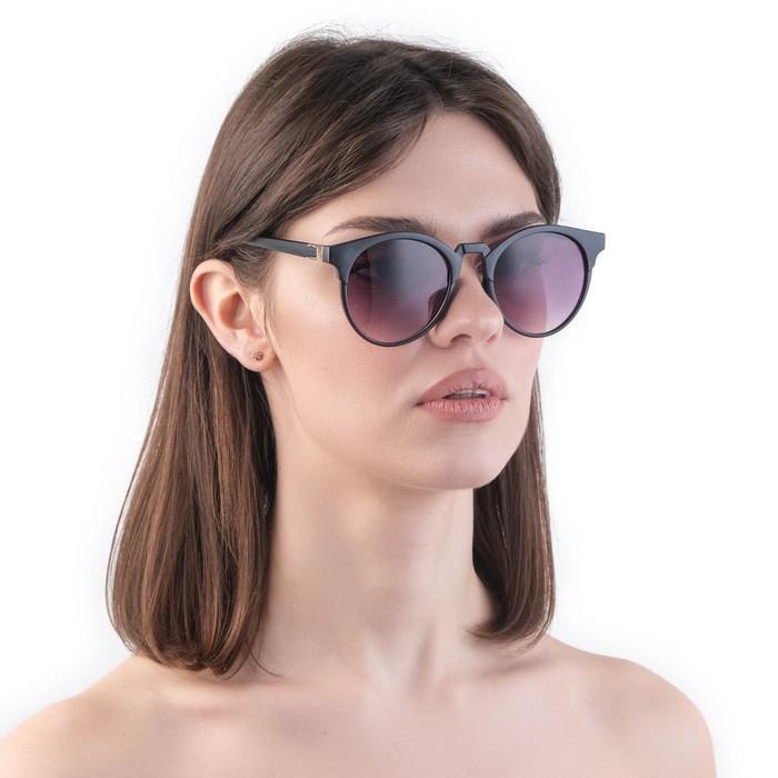 "Очки солнцезащитные ""Аан"", uv400,14.5х14.5х5.7 см, линза 4.2х4.9 см, чёрные - фото 798489654"