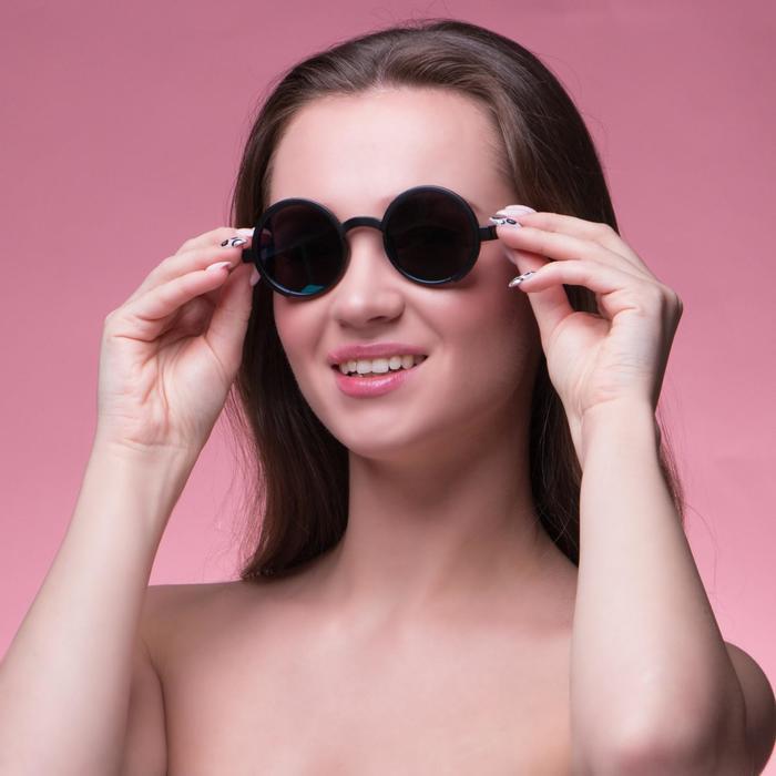 "Очки солнцезащитные ""Паданг"", uv 400, 14.5х13.5х5 см, линза 4.4х4.4 см, микс"