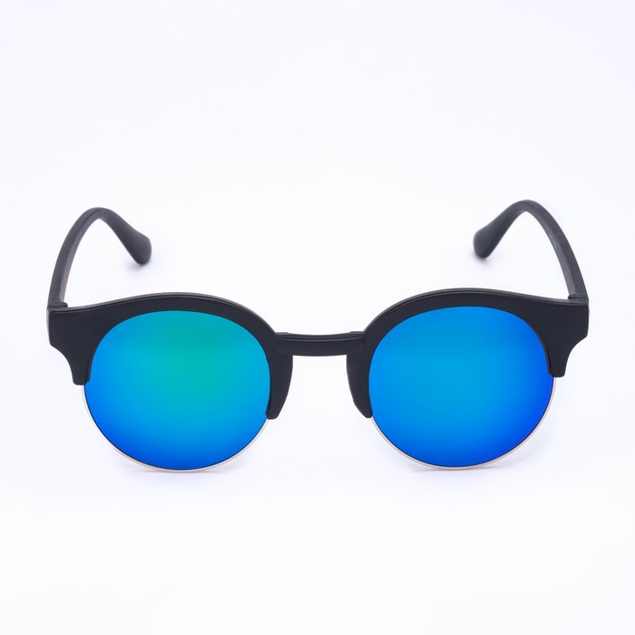 "Очки солнцезащитные ""Бингин"", uv 400, 14х14х5 см, линза 4.7х4.1 см, синие - фото 798489665"