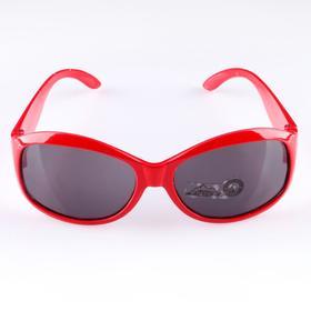 Очки солнцезащитные. спортивные, uv 400, 11х12х4.5 см, линза 3.6х5 см, красные