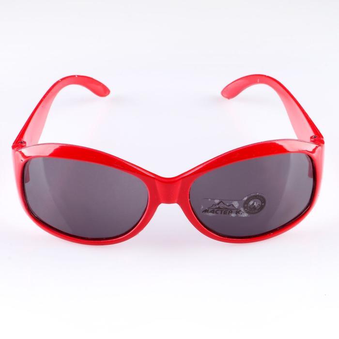 Очки солнцезащитные. спортивные, uv 400, 11х12х4.5 см, линза 3.6х5 см, красные - фото 703518322