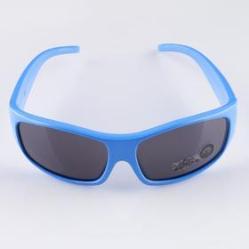 Очки солнцезащитные. детские, uv 400, 11х11х4 см, линза 3.2х5 см, синие