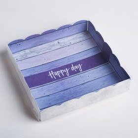 Box for confectionery products with PVC-cover Happy day, a 15 × 15 × 3 cm