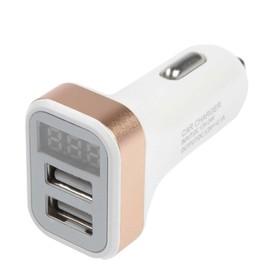 Автомобильный вольтметр + зарядное устройство Cartage 12-24 В, 2 USB 2А, микс
