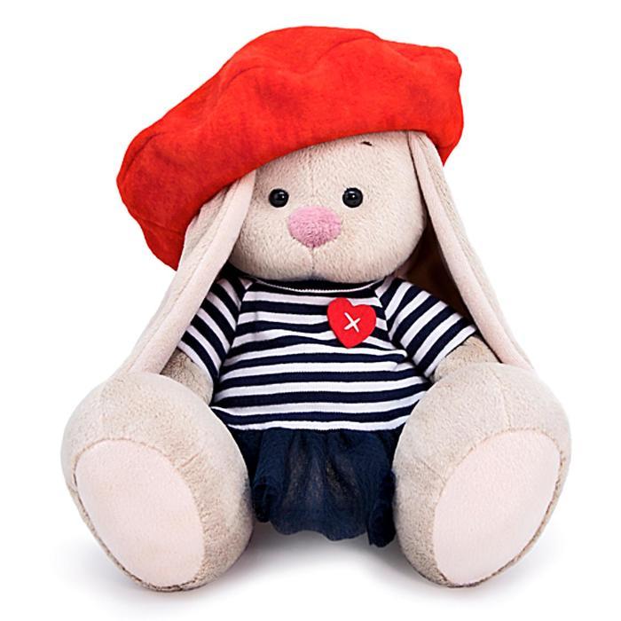 Мягкая игрушка «Зайка Ми» в тельняшке и берете 23 см - фото 4470974