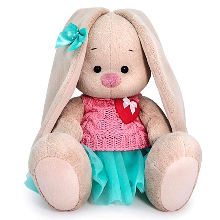 Мягкая игрушка «Зайка Ми» в юбке и вязаном жилете 18 см - фото 4467869
