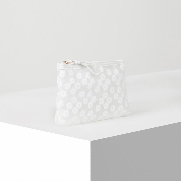 Косметичка ПВХ, отдел на молнии, цвет матовый белый - фото 798489877