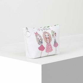 Cosmetic bag simple Women, 23*6*14, otd zipper with ring, white