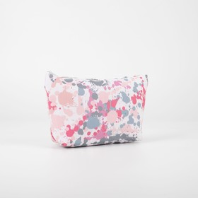 Cosmetic bag simple Abstraction 22*7*13, otd zipper, beige