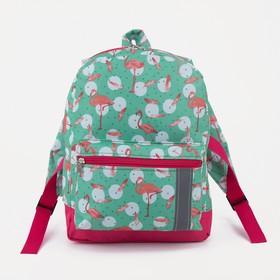 4818 p-600 / d Backpack det., 21 * 11 * 29cm, separate with zipper, n / pocket, rose flamingo / turquoise