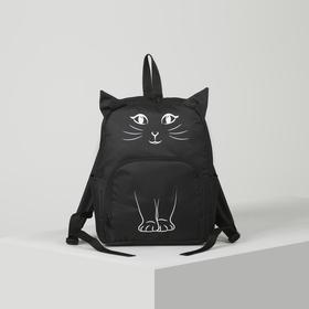 Рюкзак молодёжный, отдел на молнии, наружный карман, 2 боковых кармана, цвет чёрный