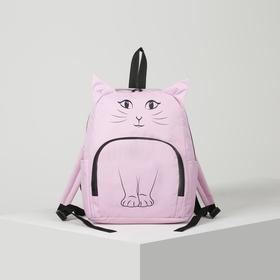 Рюкзак молодёжный, отдел на молнии, наружный карман, 2 боковых кармана, цвет розовый