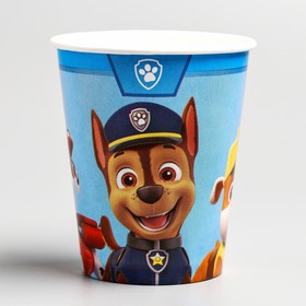 A glass of paper Happy Birthday, puppy patrol, 250 ml