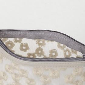Косметичка ПВХ, отдел на молнии, цвет матовый серый - фото 1770298