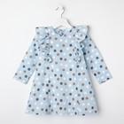 """Платье для девочки KAFTAN """"Горох"""" р.30 (98-104), голубой - фото 105697319"""