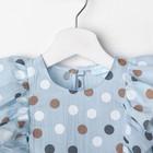"""Платье для девочки KAFTAN """"Горох"""" р.30 (98-104), голубой - фото 105697320"""