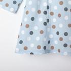 """Платье для девочки KAFTAN """"Горох"""" р.30 (98-104), голубой - фото 105697322"""