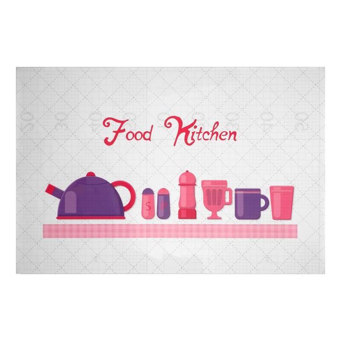"""Наклейка на кафельную плитку """"Еда на кухне"""" 60х90 см"""