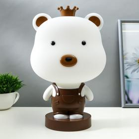 "Настольная лампа ""Мишка"", 1х15Вт Е14, цвет коричневый"