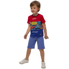 Джемпер для мальчиков, рост 104 см, цвет красно-синий