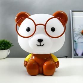 """Настольная лампа """"Медведь"""", 1х15Вт Е14, цвет коричневый"""