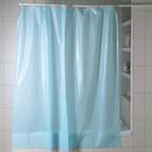 Shower curtain 180 x 180 cm Blue, polyethylene