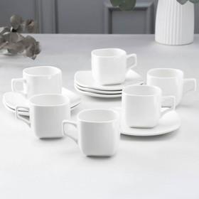 Сервиз чайный Ilona, 12 предметов: 6 чашек 200 мл, 6 блюдец