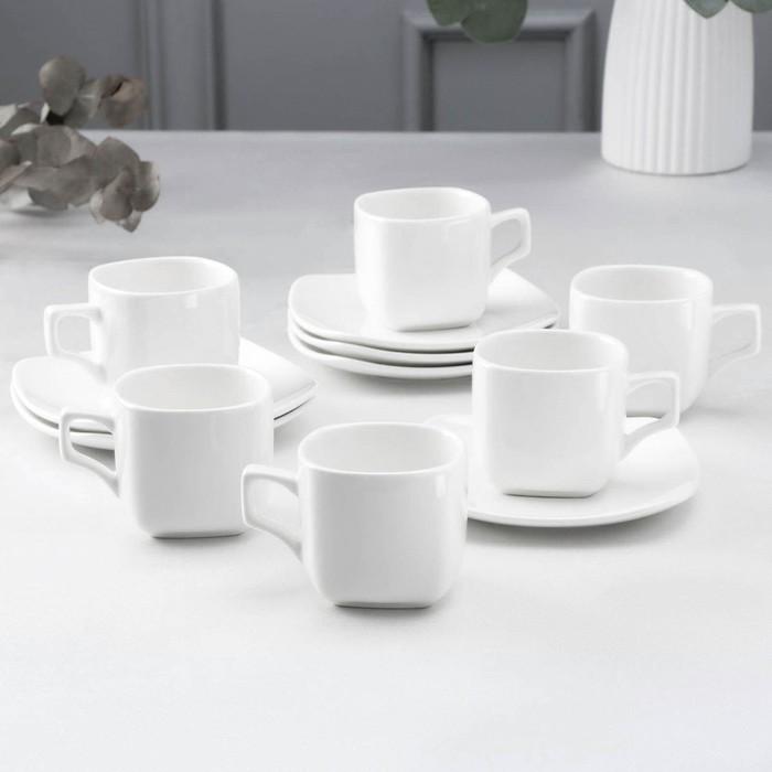 Сервиз чайный Wilmax Ilona, 12 предметов: 6 чашек 200 мл, 6 блюдец - фото 1218528