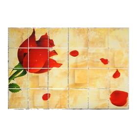 Наклейка на кафельную плитку 'Роза и лепестки' 90х60 см Ош