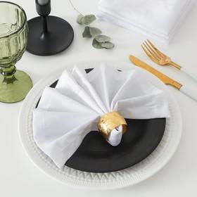 Набор салфеток Этель с ГМО «Вензель», размер 32х32 см - 4 шт, цвет белый