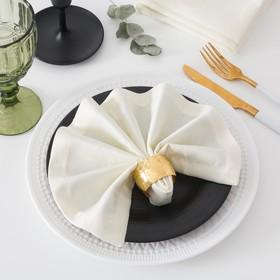 Набор салфеток с ГМО Этель «Вензель», размер 32х32 см - 4 шт, цвет шампань