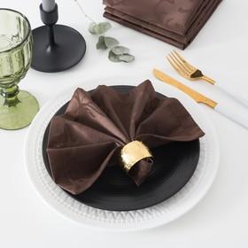 Набор салфеток с ГМО «Этель», размер Вензель 32х32 см - 4 шт, цвет шоколад