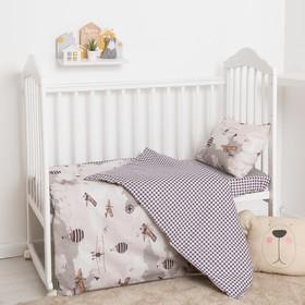 Детское постельное бельё Крошка Я бейби «Карты», 147х112 см, 60х120 + 20 см, 40х60 см - 1шт