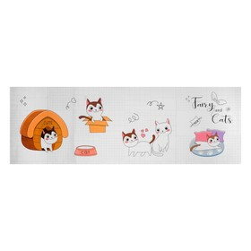 Наклейка на кафельную плитку 'Котята' 30х90 см Ош
